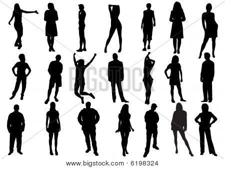 Vector set of various people