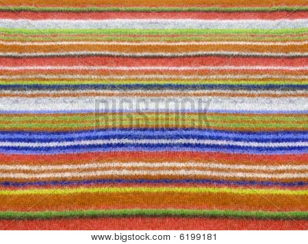 colorful alpaca style textile close up