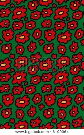 Seamless Christmas flower pattern