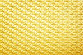 Yellow textured wax blank for honeycomb background poster