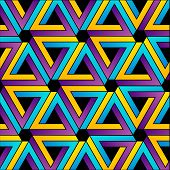 Background with colorful Pen rose triangles for web poster