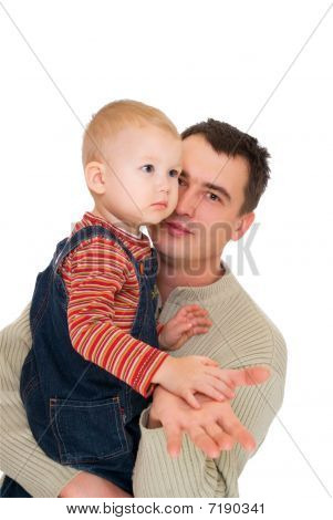 Young Father With His Son At The Hands
