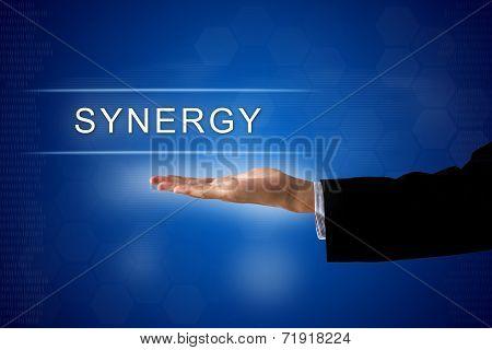 Synergy Button On Virtual Screen