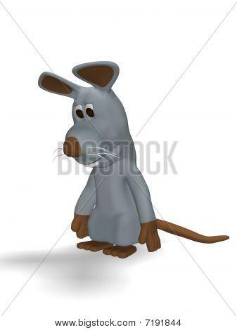 cute sad mouse