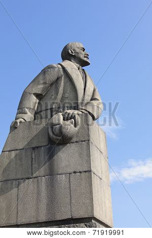 Monument To Lenin In Petrozavodsk. Russia
