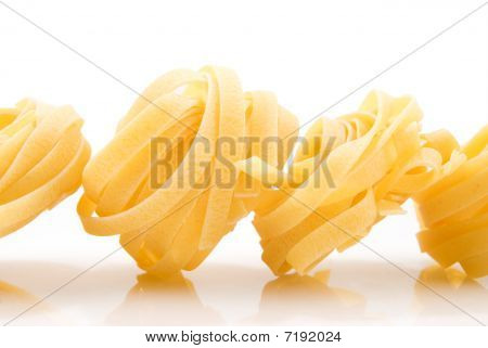Pasta In The Form Of The Nest With The Reflection