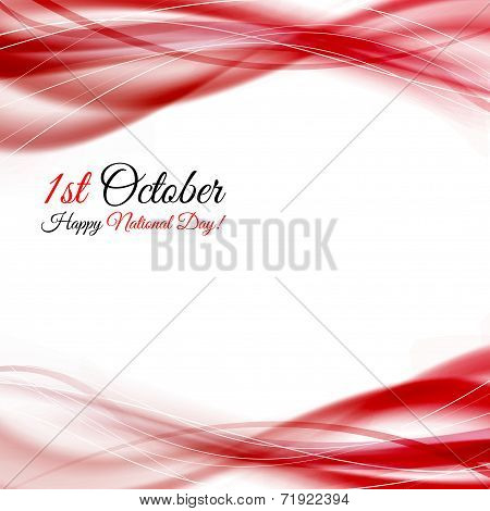 Prc National Day Background Swoosh Waves