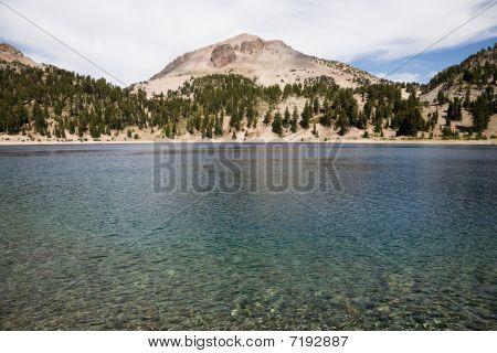 Lake Helen and Lassen Peak Lassen Volcanic National Park in California USA poster