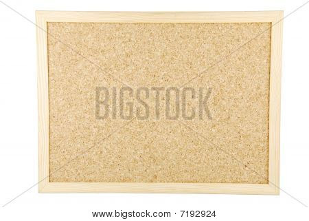 Cork Board On White