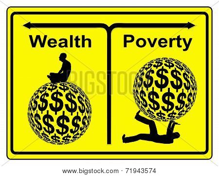 Concept sign of social and economic inequity and the worldwide wealth gap poster