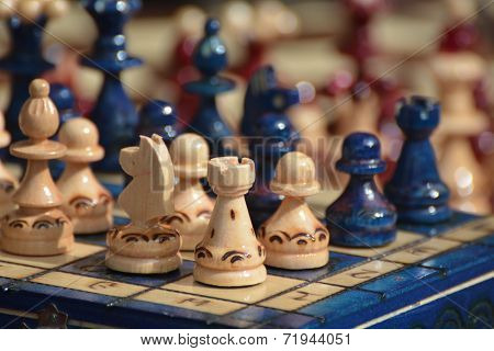 Chess Figures On Board
