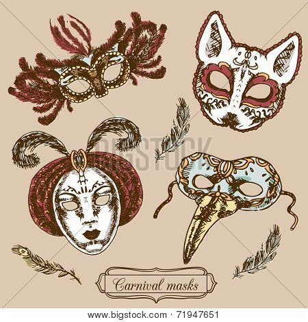 Carnival mask composition set