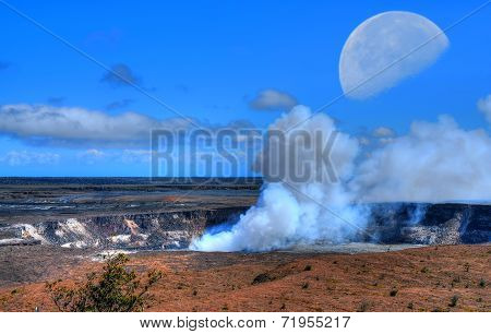 Kilauea Volcano Moon