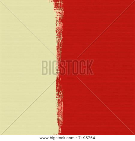 Cream Box On Red Background