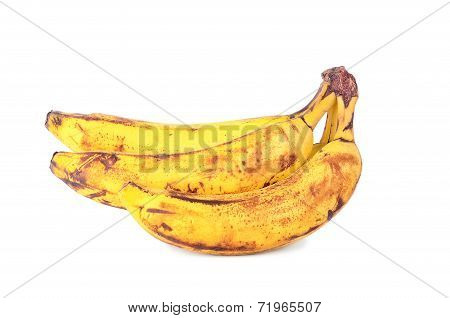 Over Ripe Banana Isolated On White
