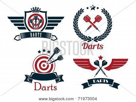 Darts emblems set