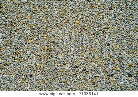 Abstract Backgound Texture Of Pebble Dash Wall poster