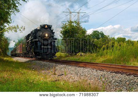 Thundering Steam Train