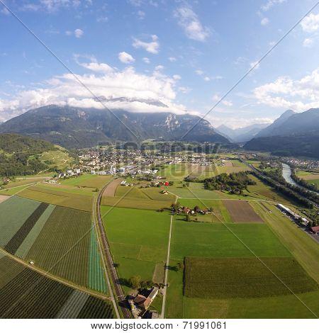 Aerial View - Bex, Switzerland
