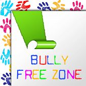 Bully Free Zone Showing No Bullying And Cyberbullying poster