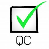 Tick Qc Indicating Quality Assurance And Guarantee poster