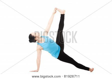 Yogi Female In Yoga Pose Vasisthasana