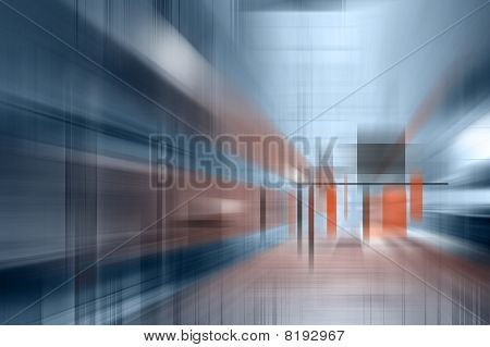 Abstract Interior In Blue.