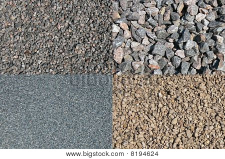 A Set Of The Different Crushed Stones