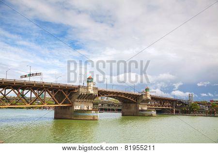 Burnside Drawbridge In Portland, Oregon