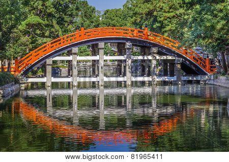 Taiko Bashiat Sumiyoshi Grand Shrine in Osaka Japan