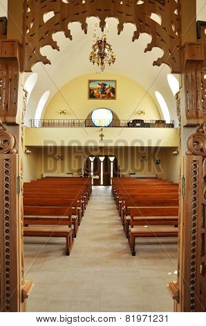 Interior Of A Greek Catholic Church In Romania