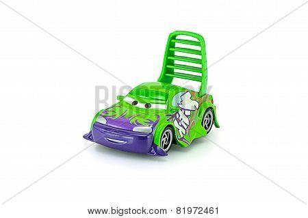 Tow Mater Pick-up Truck With Machine Gun