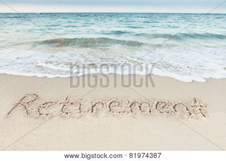 Word Vacation Written On Beach