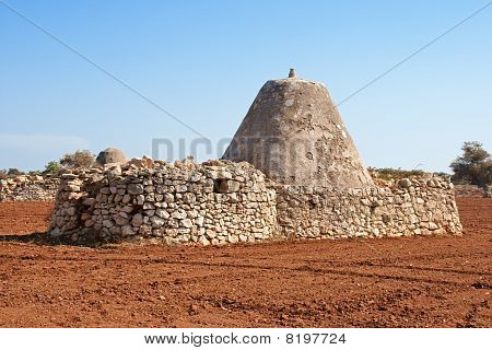 Ancient Trulli Houses In Apulia