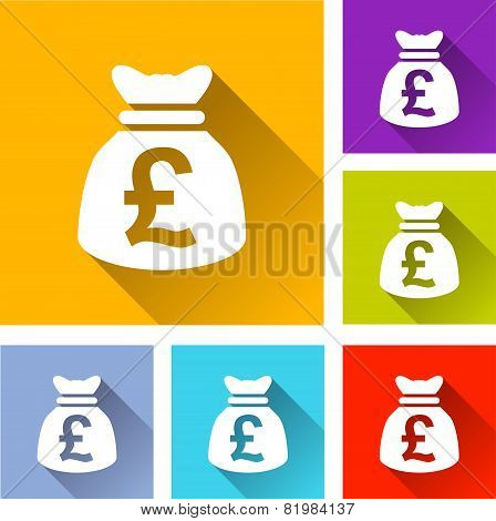 Pound Sterling Bag Icons