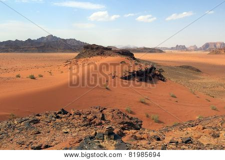 Desert In Jordan In The Middle East