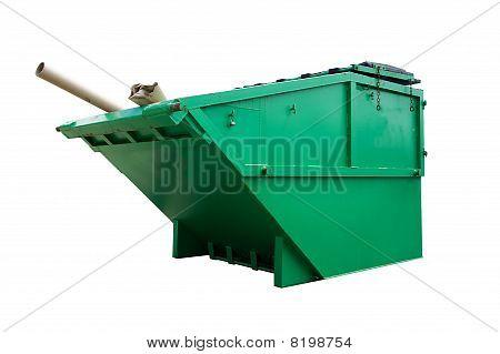 Green Industrial Waste Bin