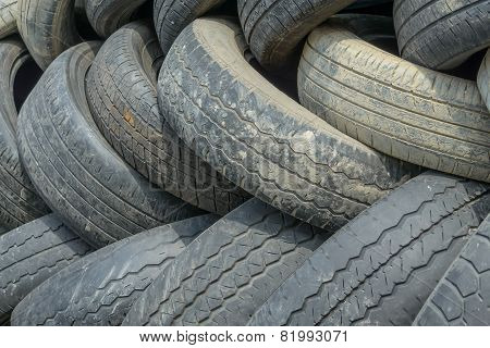Old tire background