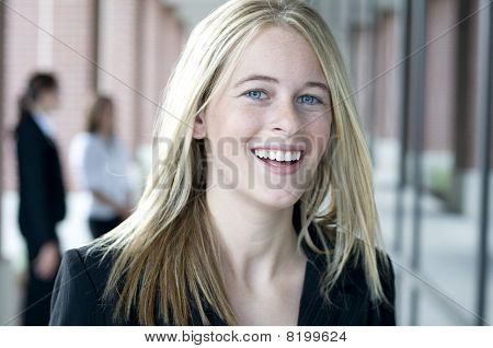 Attractive Businesswoman With Big Smile