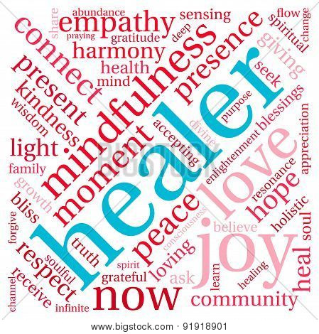 Healer Word Cloud