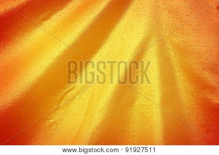 Dark Gold Fabric Silk For Background