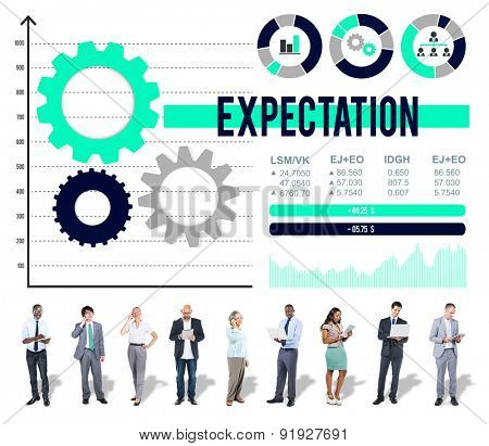 Expectation Prediction Future Goal Hope Concept poster