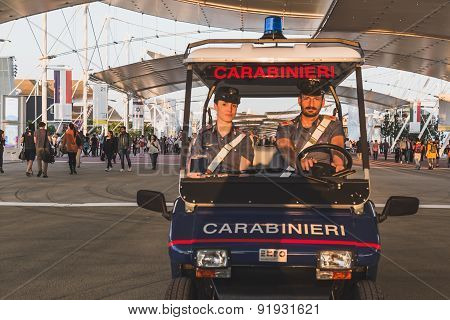Carabinieri At Expo 2015 In Milan, Italy
