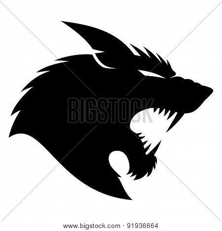 Vector sign. Werewolf.