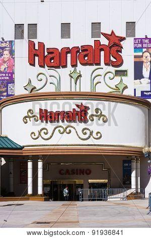 Facade Of Harrahs Casino In Reno