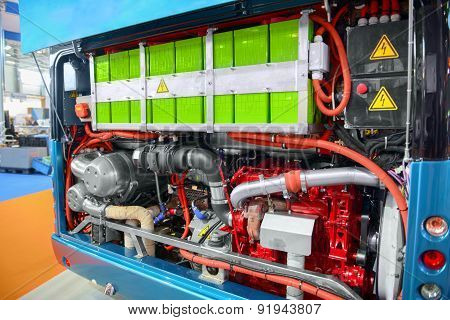 Batteries of an electric bus