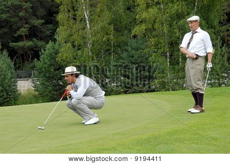 Tow Golfers At Country Club
