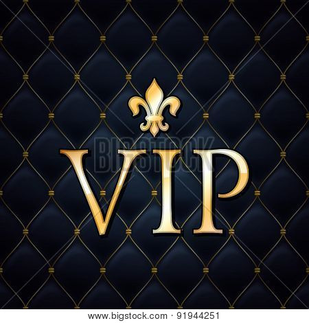 VIP abstract quilted background.