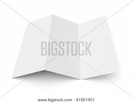 Leaflet Blank Z-fold White Paper Brochure