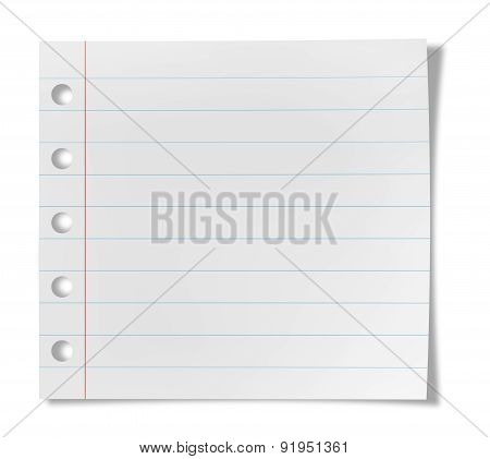 Notebook Paper Sheet